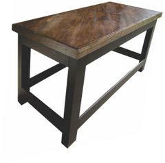 Oak Top Sofa Table