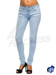 Solid Skinny Jean Pants - Light