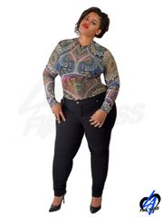 Tattoo Bodysuit (Plus Size)
