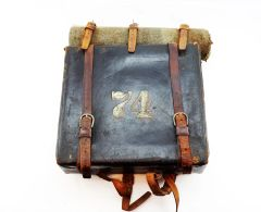Rare Short's Patent Backpack with all Straps and Blanket! 74th New York Infantry