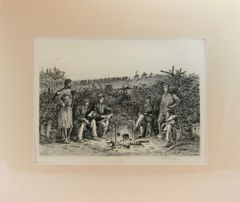 Edwin Forbes Engraving Plate No. 12, Coffee Coolers