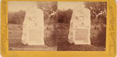 Stereoview 1st Mass Cavalry Monument, Sedwick Ave.