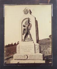 54th N. Y. Infantry Monument Gettysburg Albumen