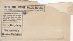 Gettysburg Souvenir Postcards From The Jennie Wade House