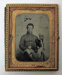 Young Union Cavalryman Quarter PlateTintype