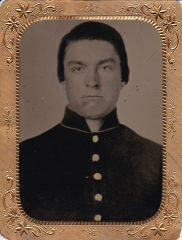 Union Private Half Plate Tintype