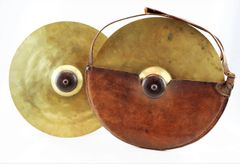 Civil War Cymbals with Original Leather Case