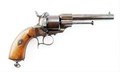 Beautiful Large Pinfire Revolver / SOLD
