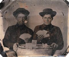 Soldiers Playing Cards Sixth Tintype