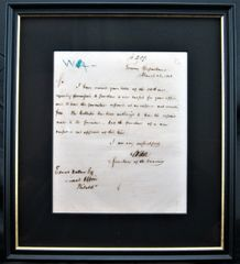 Salmon Portland Chase Autographed Letter on Rice Paper Dated 1862