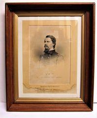 Engraving of Major General Winfield Scott Hancock