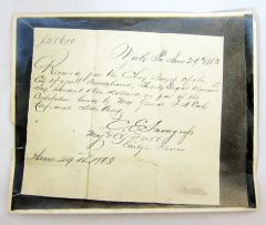 Photograph of Document