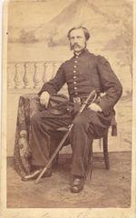 CDV of James Savage Jr. Lieutenant Colonel 2nd Mass. Infantry