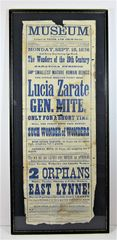 1876 Broadside for the 9th and Arch Museum formerly Colonel Wood's Oddity Museum