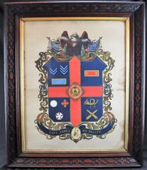 Soldiers Military Escutcheon, Captain James McDavitt