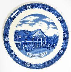 Gettysburg Souvenir Plate Depicting Gettysburg National Museum