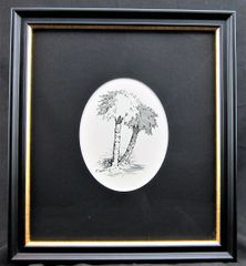 Pen and Ink Palmetto Tree, by Samuel Prescott, New Hampshire Volunteers