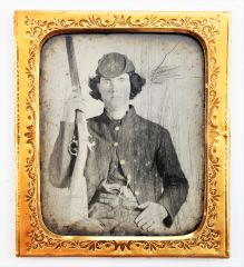 Confederate Identified Ambrotype / SOLD