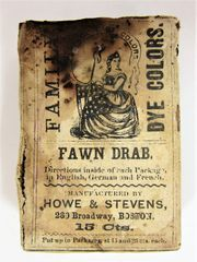 Civil War 1863 Dated Fabric Dye