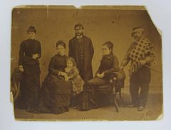 Albumen of Turkish Soldier and Family