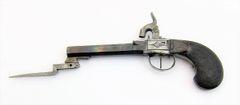 Pistol with Folding Bayonet