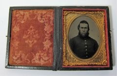 Bearded Union Soldier Ninth Plate Tintype