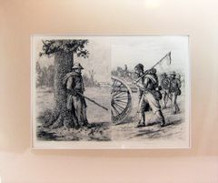 Edwin Forbes Plate No 8. Engraving, A Rainy Day / Washing Day