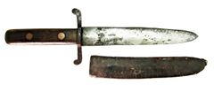 Confederate Side Knife with Inscribed Sheath