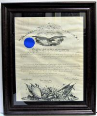 Commission to Lieutenant Colonel of the 36th PA Infantry, 7th Regiment PA Volunteer Reserve Corps for LeGrand B. Speese,