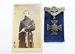 CDV and Silver Badge of Captain Samuel B. Beaman