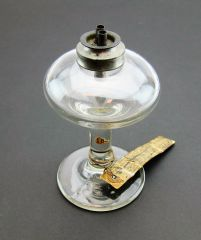 Glass Lamp from the Estate of General John A Dix