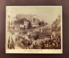 Albumen Photograph Grand Review of the Army, Washignton, D.C. by James E. Taylor