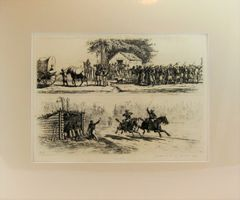 Edwin Forbes Engraving Plate No. 6, A Thirsty Crowd/ The Race for Camp