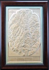 Topographical Relief Map of the Battlefield of Gettysburg, PA. July 1, 2, and 3, 1863