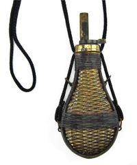 Basket Weave Powder Flask