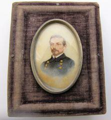 CSA Geneneral Pierre Gustave Toutant-Beauregard on Milk Glass