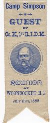 G.A.R. Ribbon with General Burnside