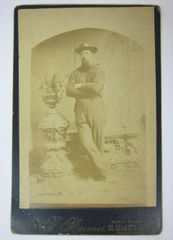Cabinet Card of Bearded Man