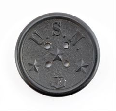 U.S.N. Hard Rubber Button