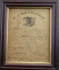 Civil War Discharge Document for Corporal Orlando Boyd, Company K, 12th Regiment of New Hampshire Volunteers