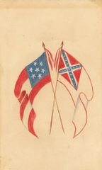 Hand Painted Battle Flags CDV