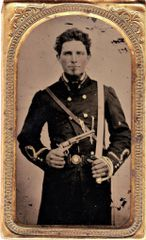 Confederate Officer Tintype