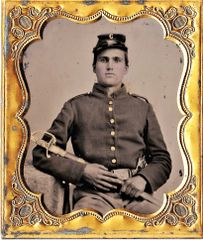 1/6th Plate Tintype of Cavalryman