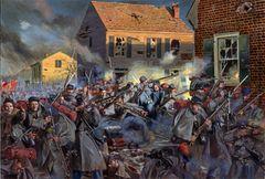 Fire on Caroline Street The 20th Mass Harvard Regiment by Don Troiani