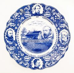 Gettysburg Souvenir Plate Depicting General Meade's Headquarters