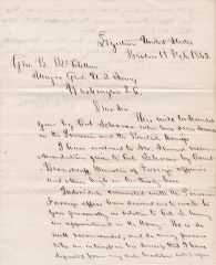 Letter of Recommendation Written to General George B. McClellan by Norman B. Judd