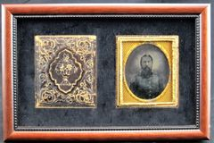 Confederate General James Longstreet Sixth Plate Ambrotype