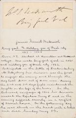 Signature of Brigadier-General James Samuel Wadsworth