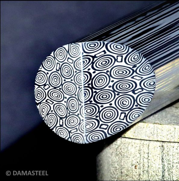 "27mm (1.06"") dia x Per Inch Damasteel Bluetounge"