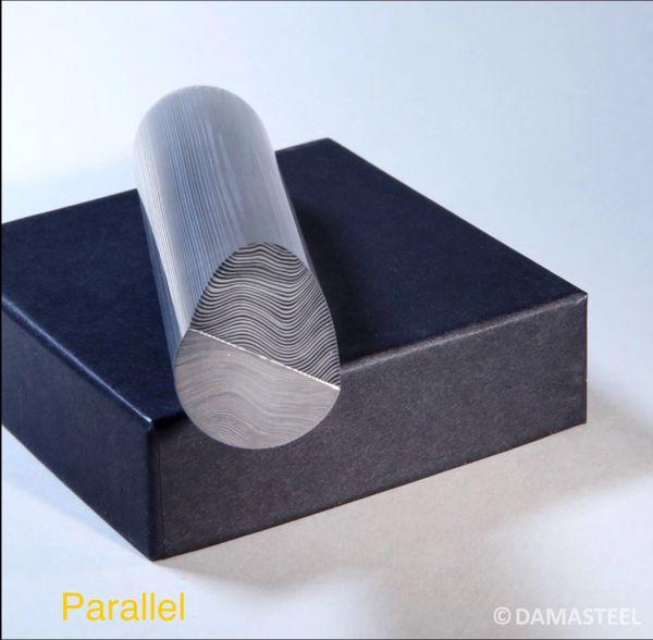 "24mm dia (.944"") x 12"" Damasteel DS95X Parallel"